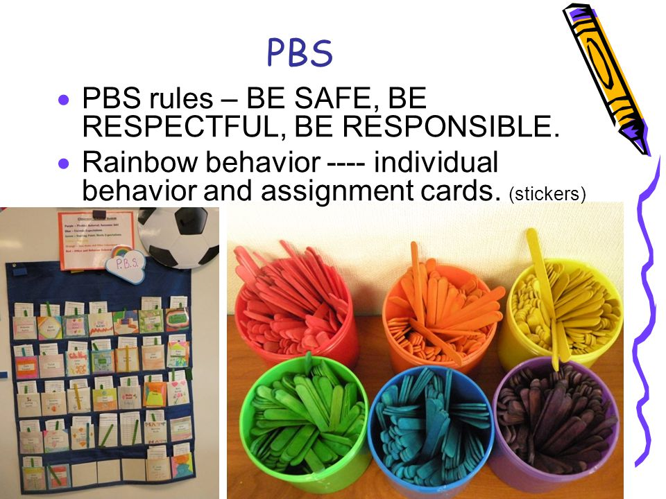 PBS PBS rules – BE SAFE, BE RESPECTFUL, BE RESPONSIBLE.
