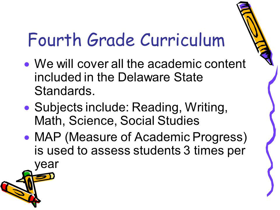 Fourth Grade Curriculum