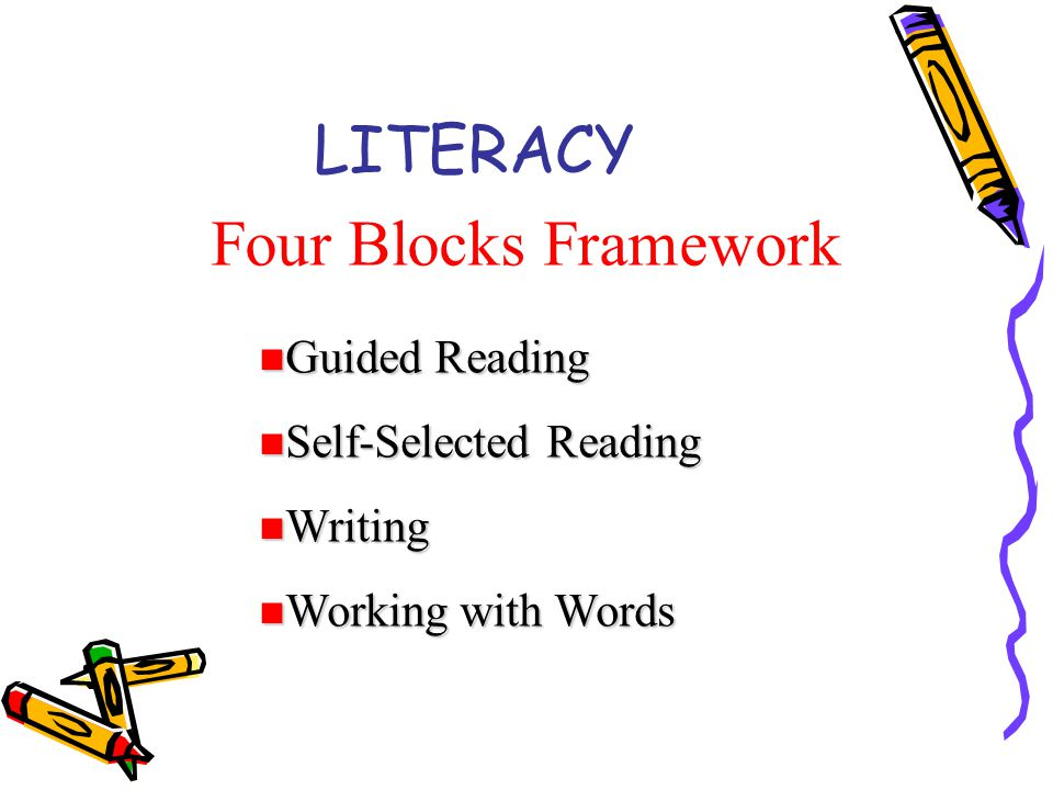 LITERACY Four Blocks Framework Guided Reading Self-Selected Reading