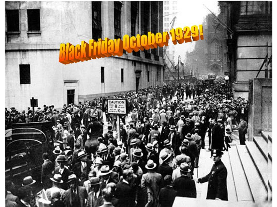 Black Friday October 1929!