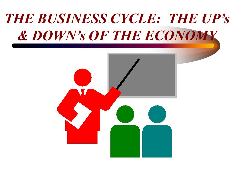 THE BUSINESS CYCLE: THE UP's & DOWN's OF THE ECONOMY
