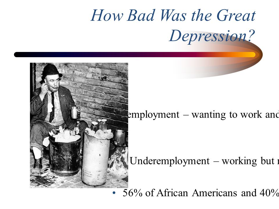 How Bad Was the Great Depression
