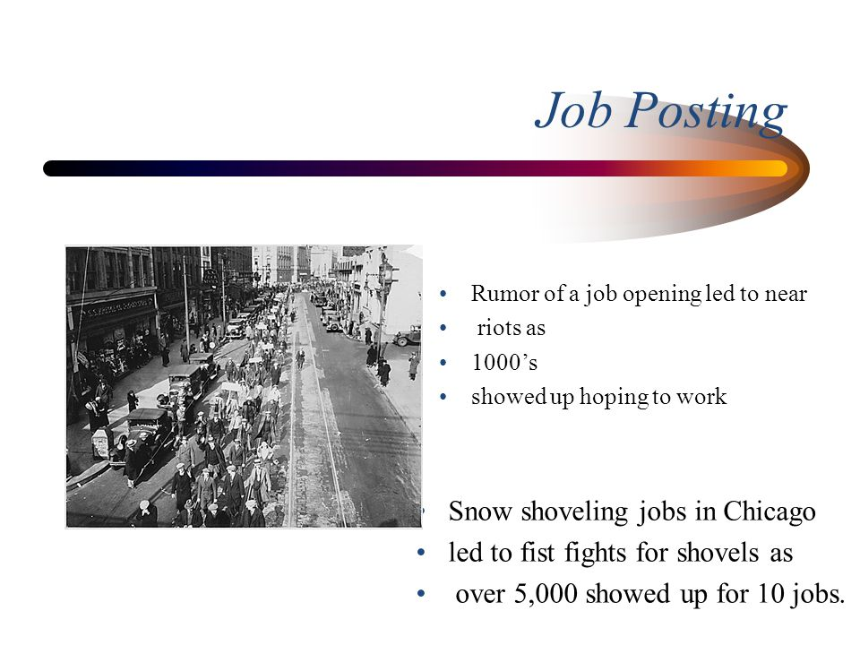 Job Posting Snow shoveling jobs in Chicago