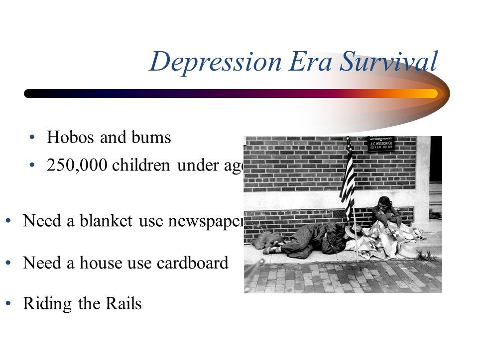 Depression Era Survival