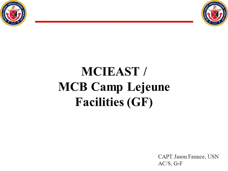 MCIEAST / MCB Camp Lejeune Facilities (GF)
