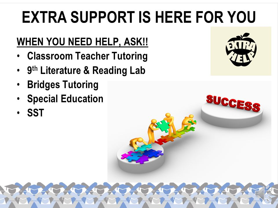EXTRA SUPPORT IS HERE FOR YOU