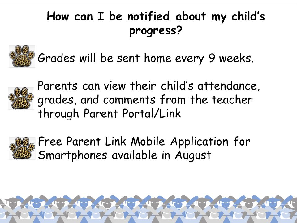 How can I be notified about my child's progress