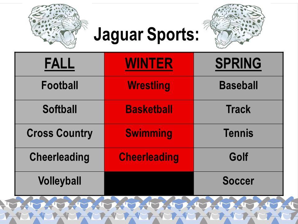 Jaguar Sports: FALL WINTER SPRING Football Wrestling Baseball Softball