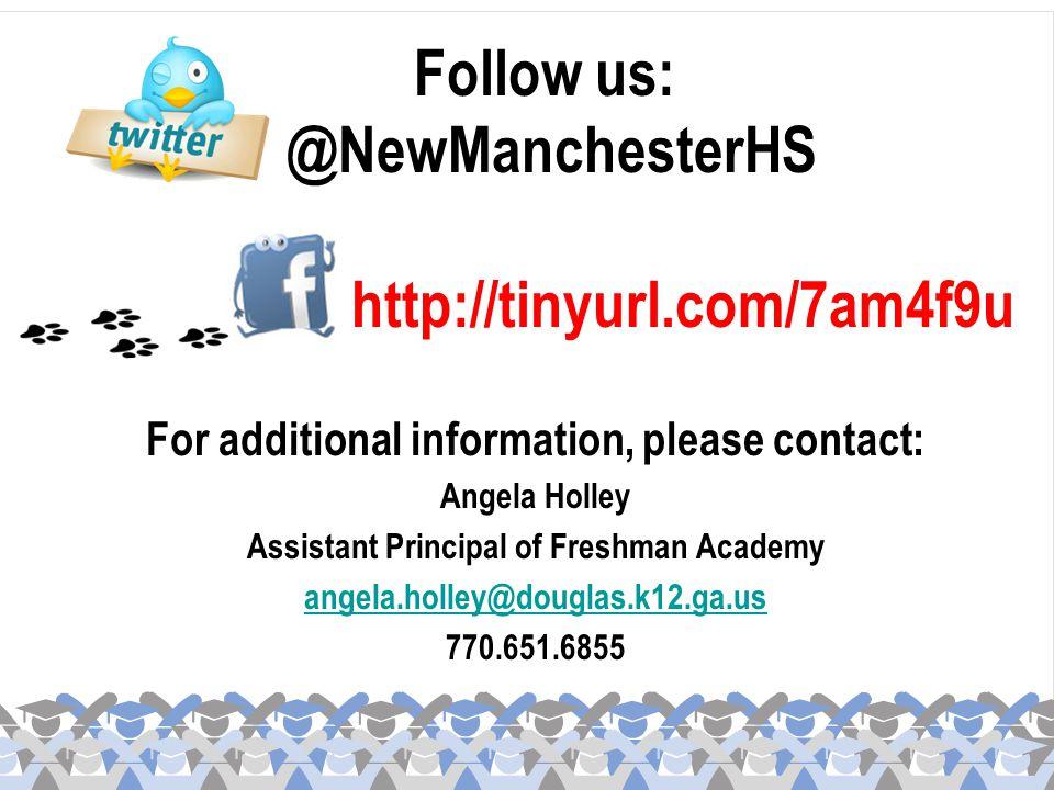 Follow us: @NewManchesterHS http://tinyurl.com/7am4f9u