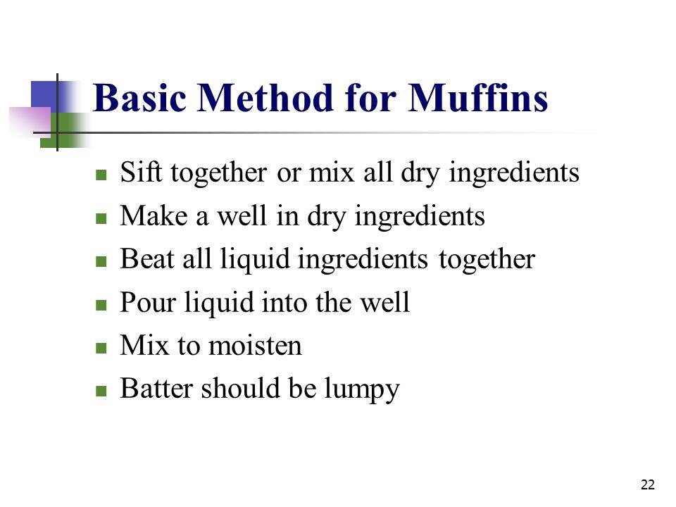 Basic Method for Muffins