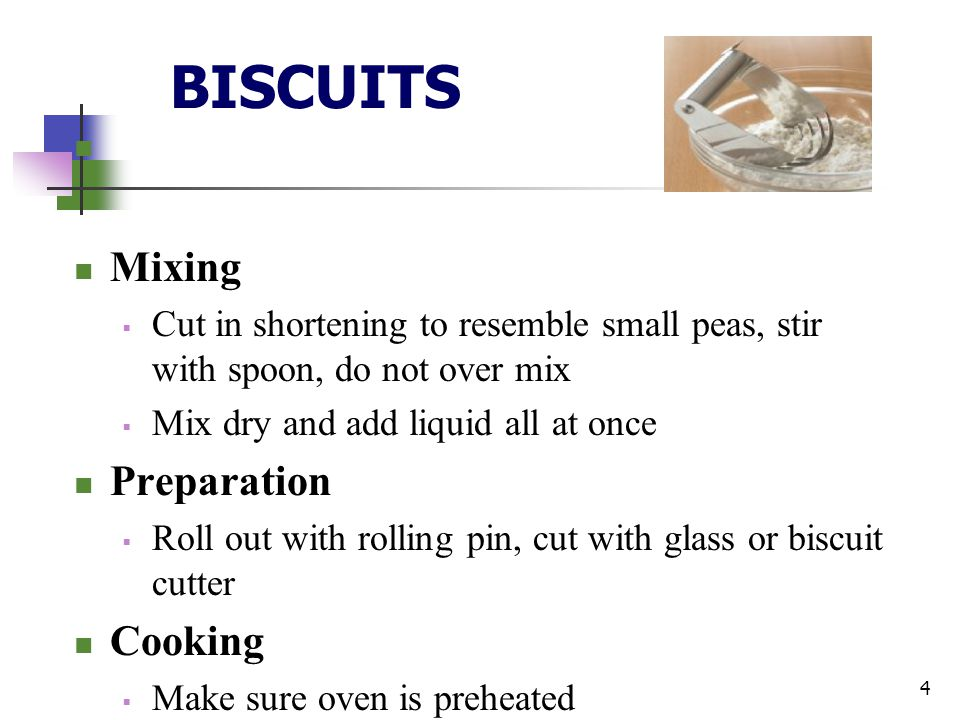 BISCUITS Mixing Preparation Cooking