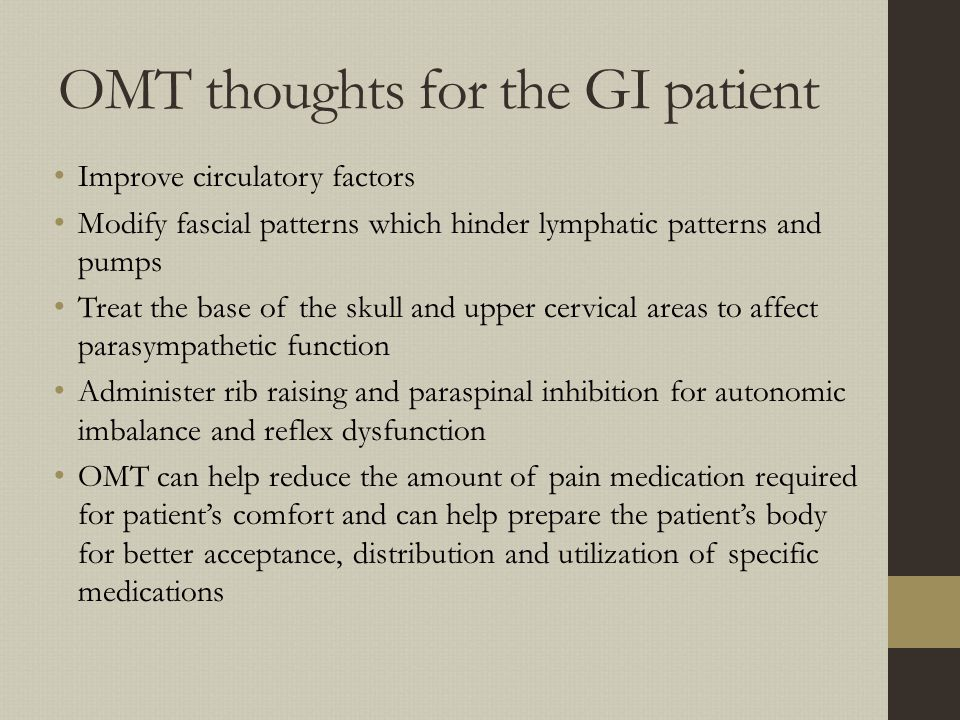 OMT thoughts for the GI patient