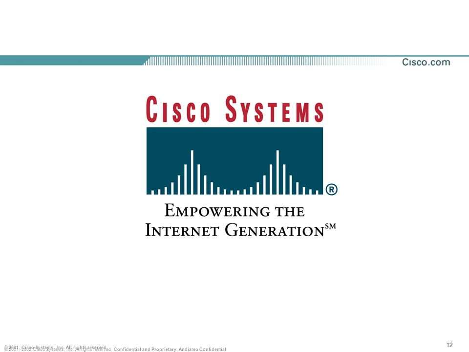 12 © 2001, Cisco Systems, Inc. All rights reserved.