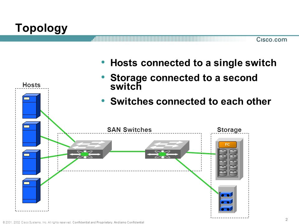 Topology Hosts connected to a single switch
