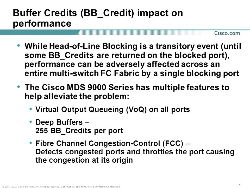 Buffer Credits (BB_Credit) impact on performance