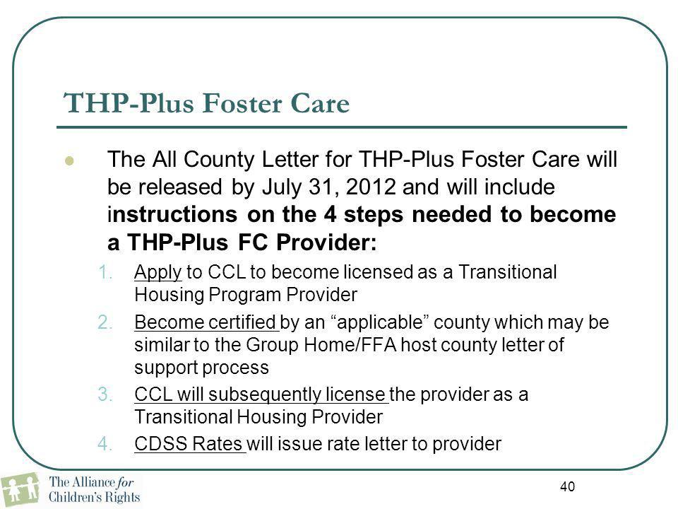 THP-Plus Foster Care