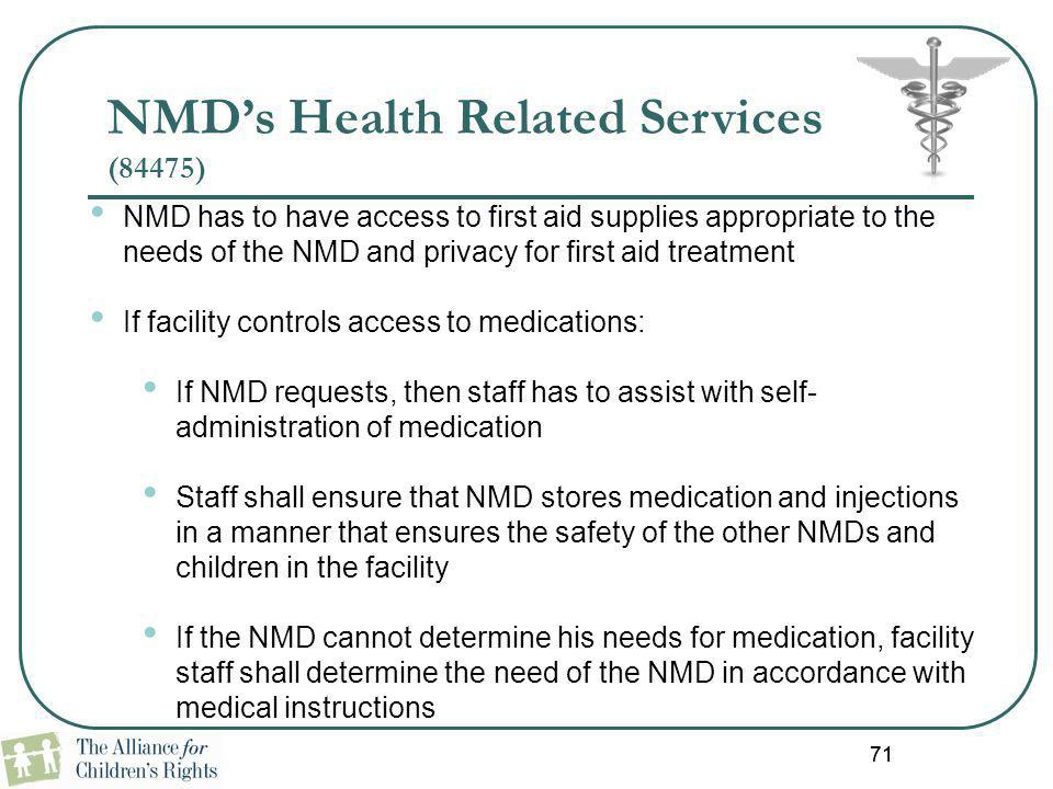 NMD's Health Related Services