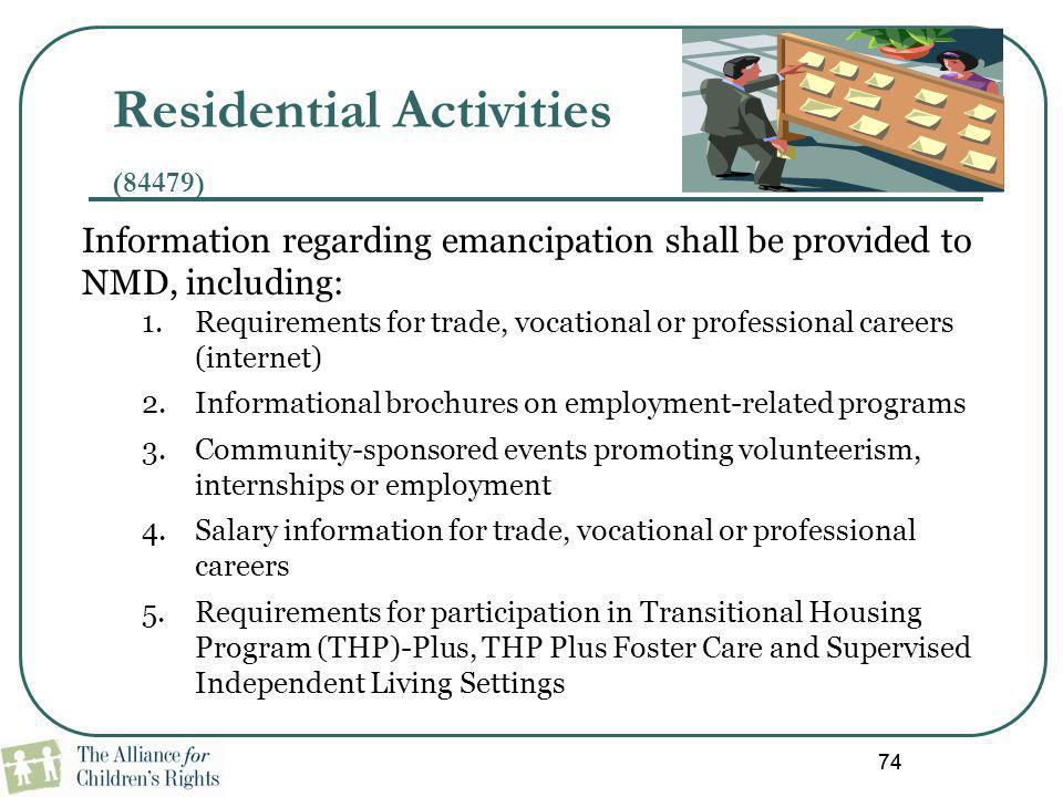 Residential Activities