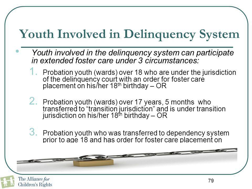 Youth Involved in Delinquency System