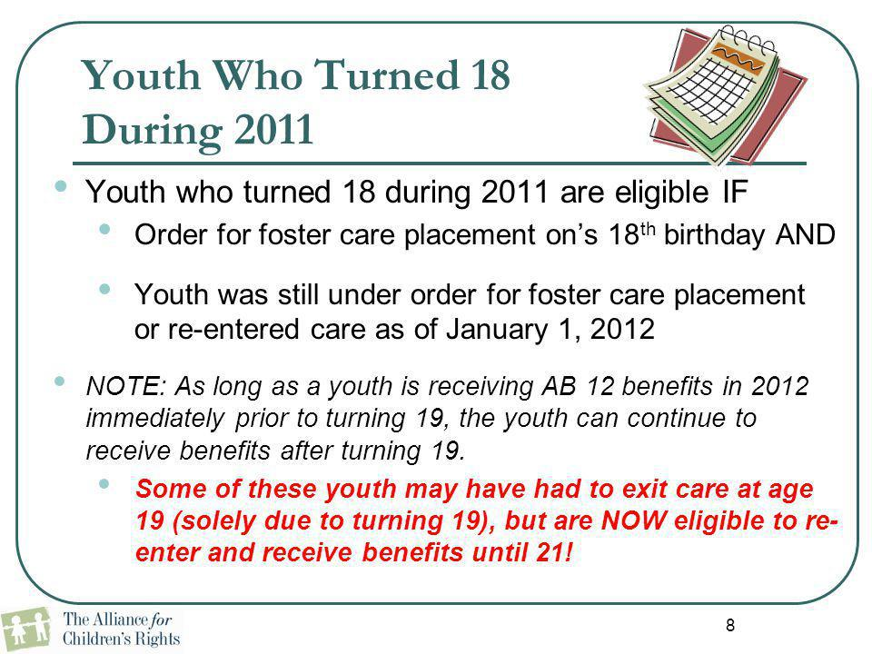 Youth Who Turned 18 During 2011