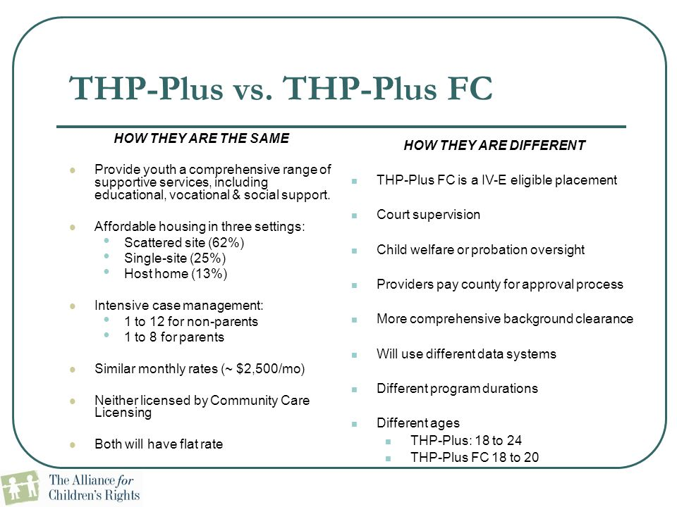 THP-Plus vs. THP-Plus FC