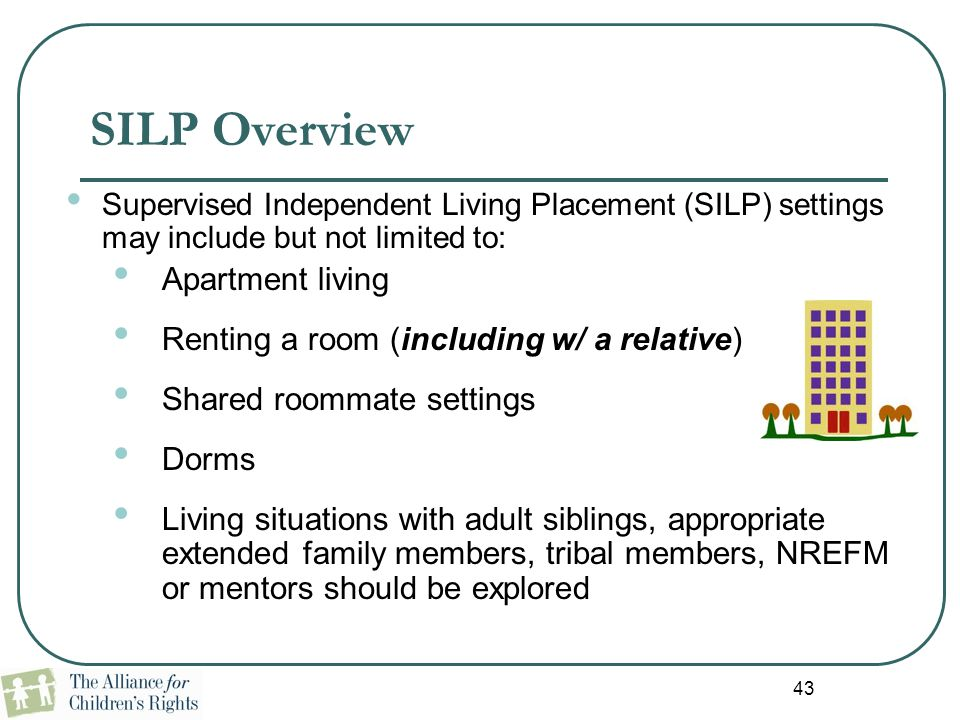 SILP Overview Apartment living
