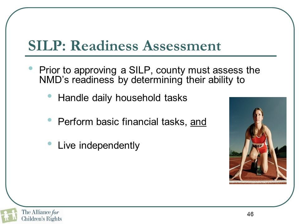 SILP: Readiness Assessment