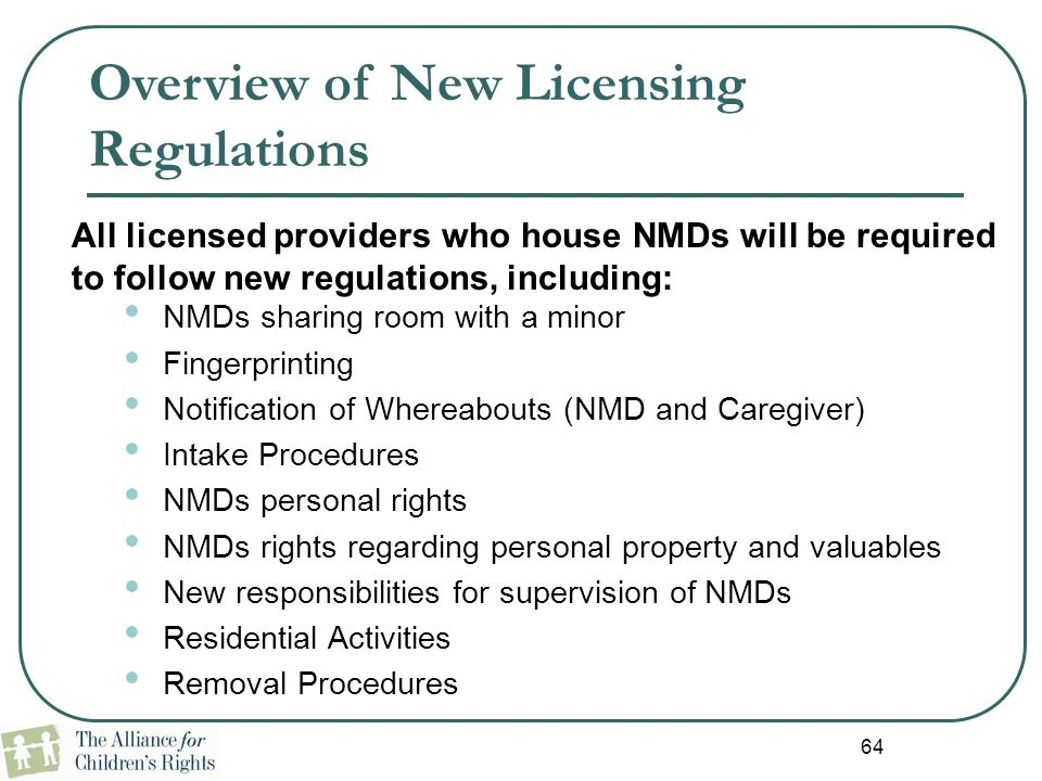 Overview of New Licensing Regulations