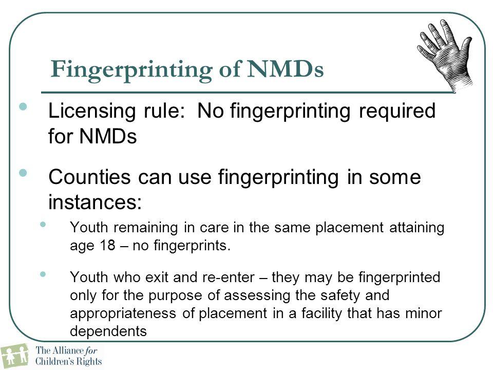 Fingerprinting of NMDs