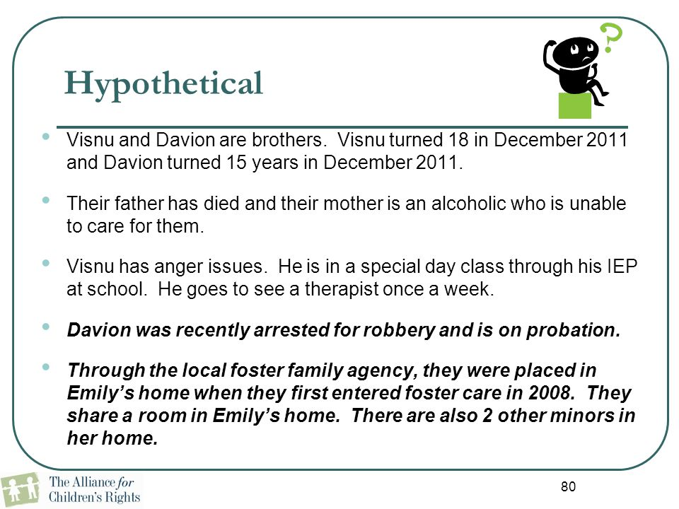 Hypothetical Visnu and Davion are brothers. Visnu turned 18 in December 2011 and Davion turned 15 years in December 2011.