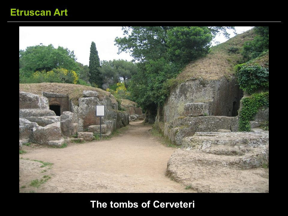 Etruscan Art The tombs of Cerveteri