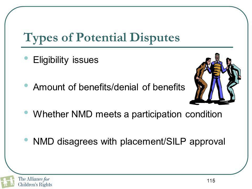 Types of Potential Disputes
