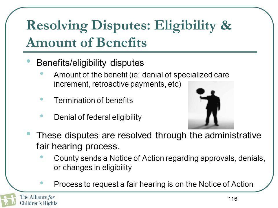 Resolving Disputes: Eligibility & Amount of Benefits