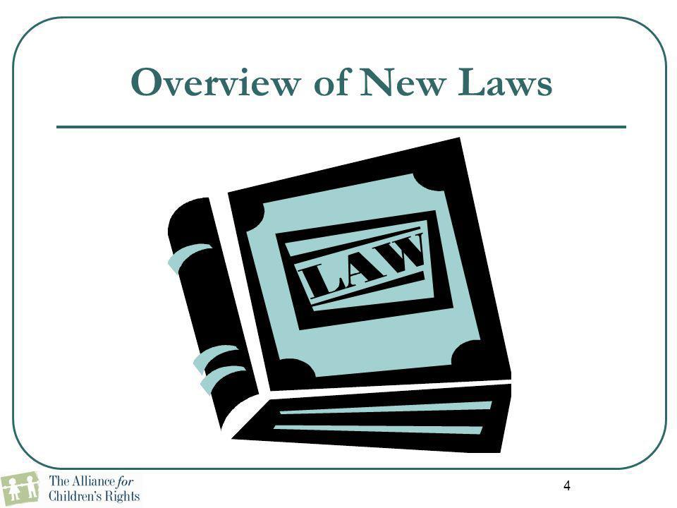 Overview of New Laws 4