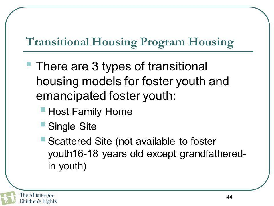 Transitional Housing Program Housing