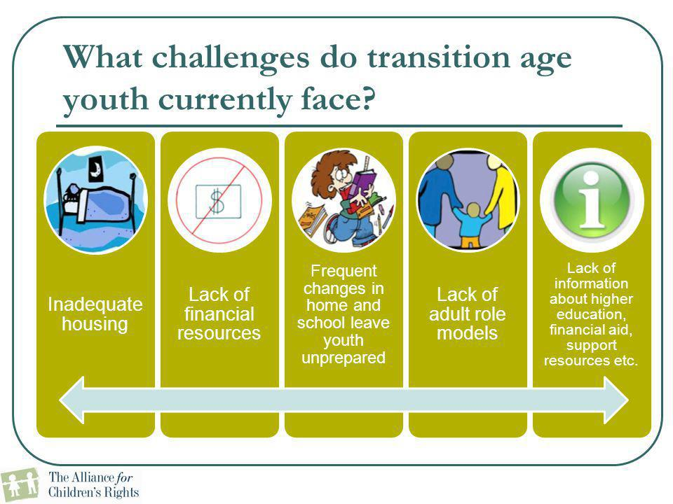 What challenges do transition age youth currently face