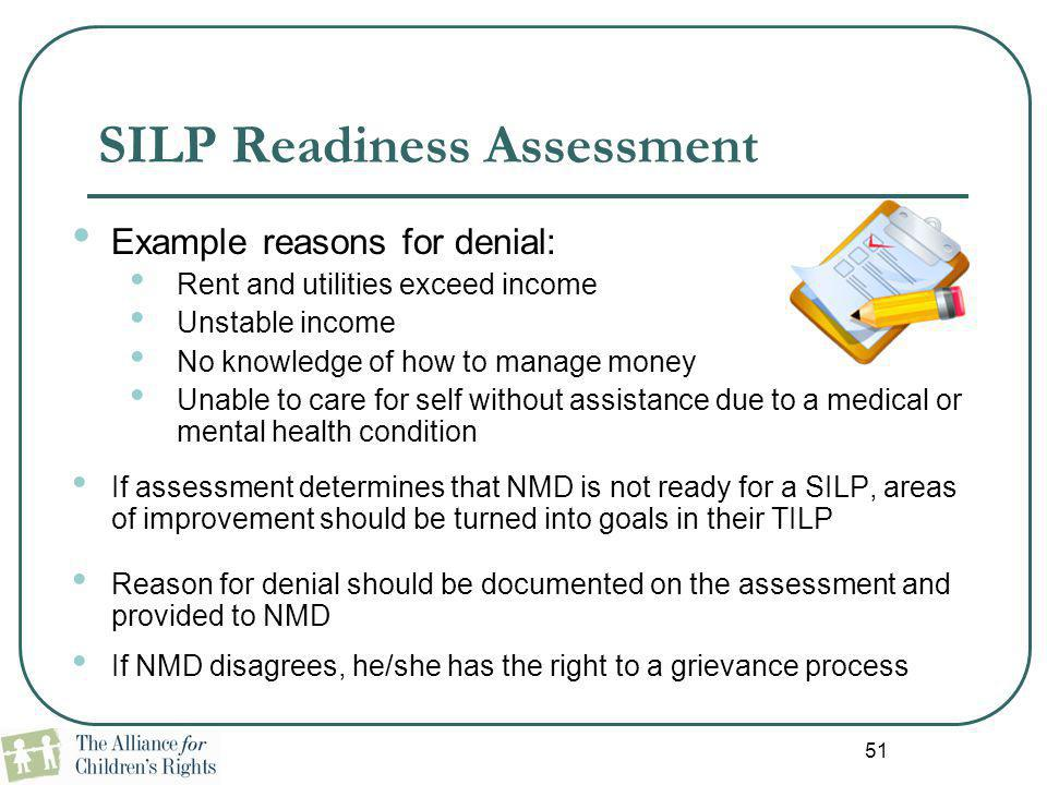 SILP Readiness Assessment