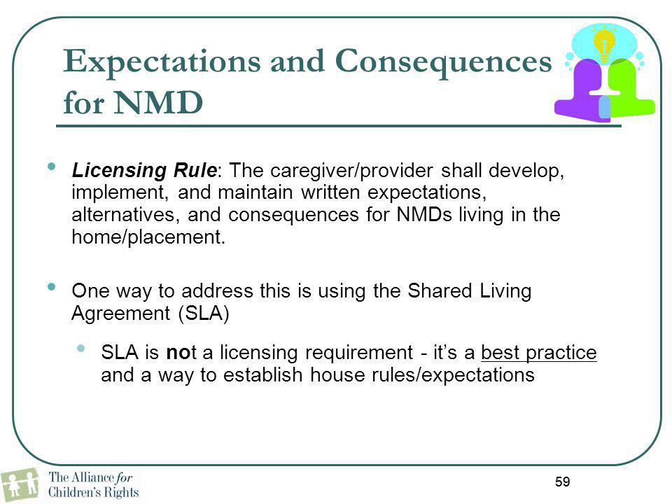 Expectations and Consequences for NMD