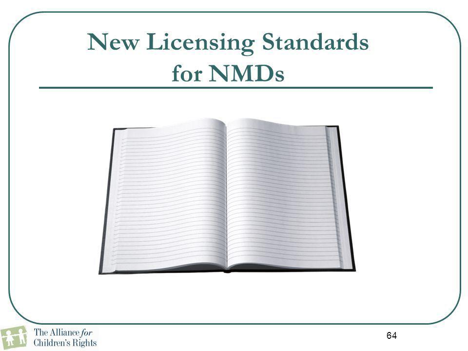 New Licensing Standards