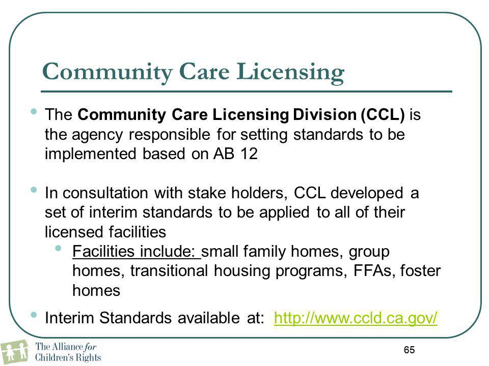 Community Care Licensing