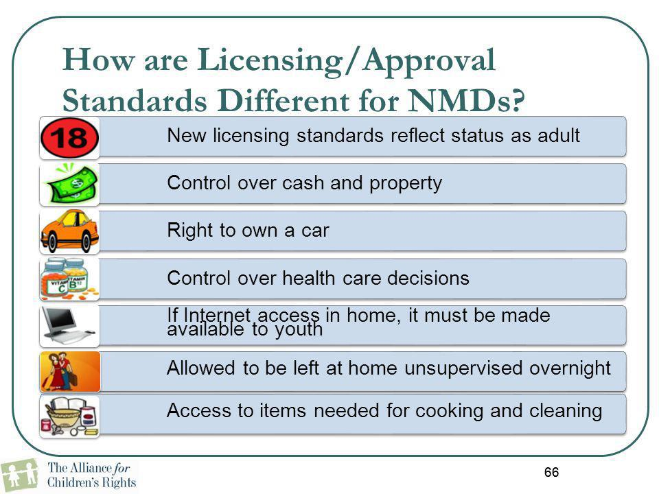 How are Licensing/Approval Standards Different for NMDs