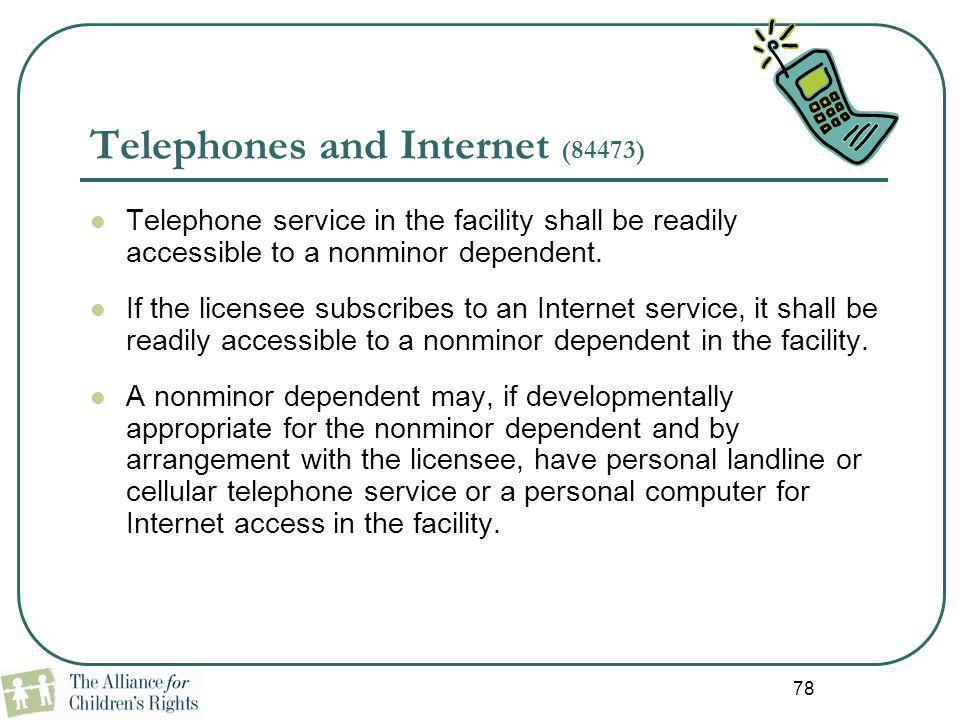 Telephones and Internet (84473)