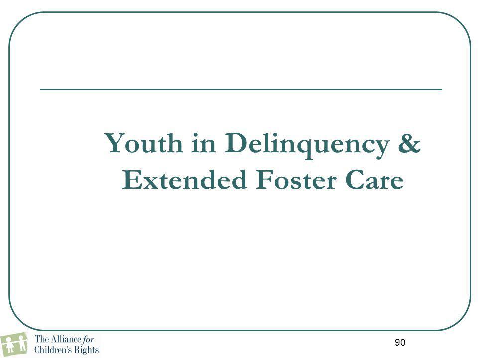 Youth in Delinquency & Extended Foster Care