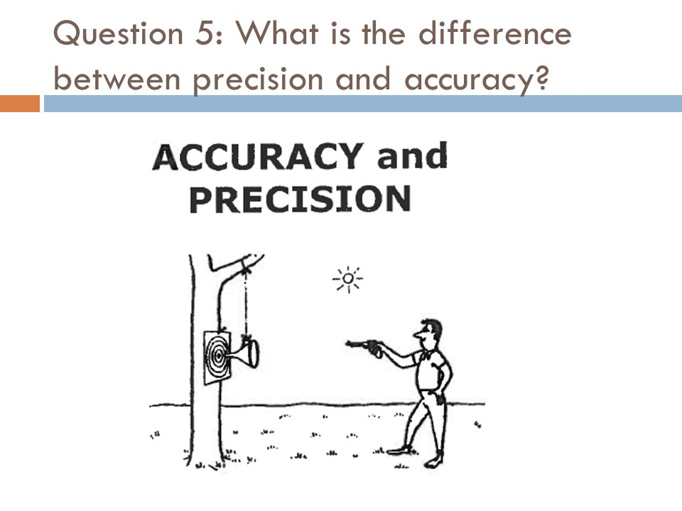 Question 5: What is the difference between precision and accuracy