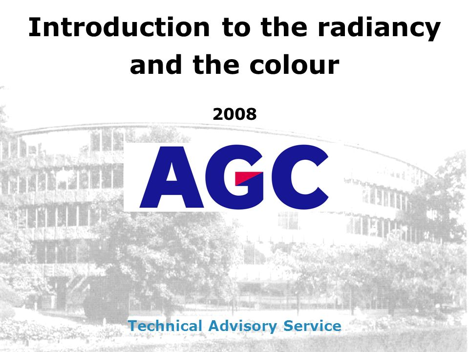 Introduction to the radiancy Technical Advisory Service