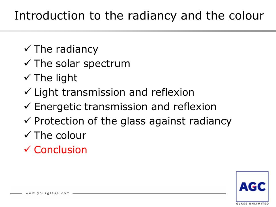 Introduction to the radiancy and the colour