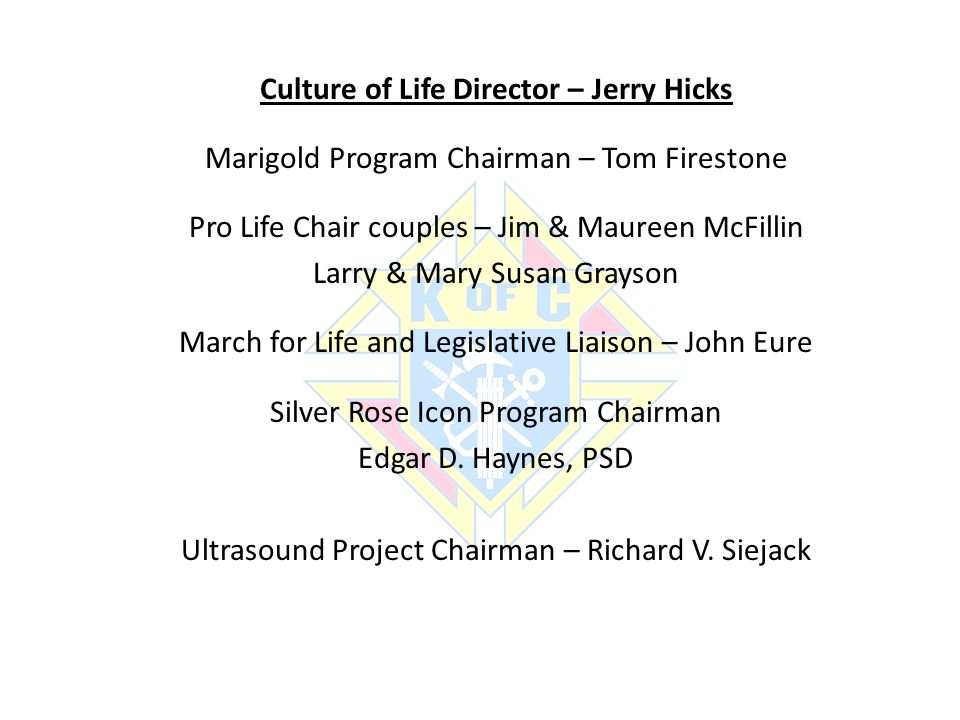 Culture of Life Director – Jerry Hicks