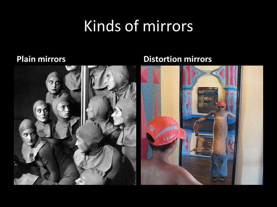 Kinds of mirrors Plain mirrors Distortion mirrors
