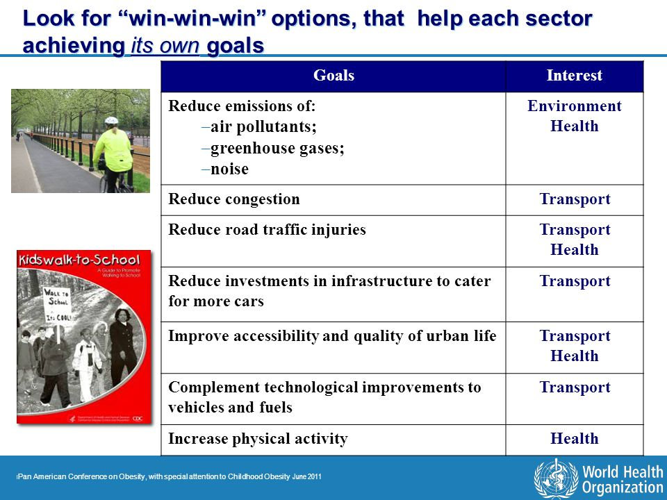 Look for win-win-win options, that help each sector achieving its own goals