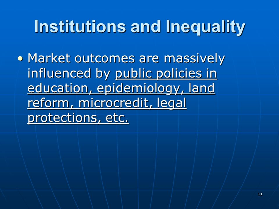 Institutions and Inequality